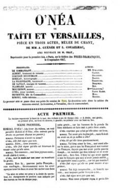 O'néa ou Taïti et Versailles (1847)
