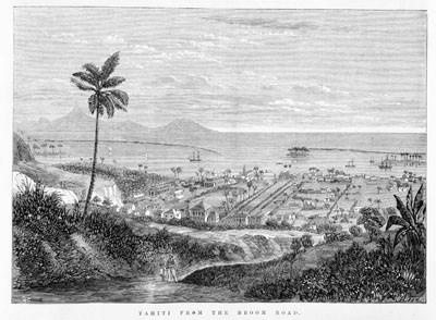Tahiti from the broom road (1867)