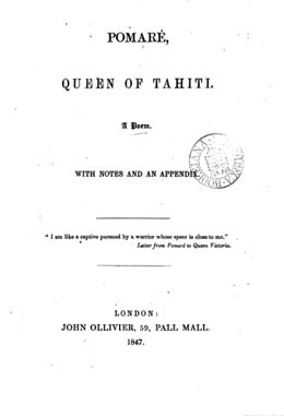 Pomaré, Queen of Tahiti (1847)