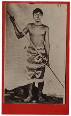 Jeune Tahitien avec harpon (1880)