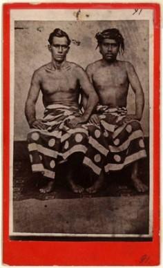 Tahitien avec un homme européen (1880)
