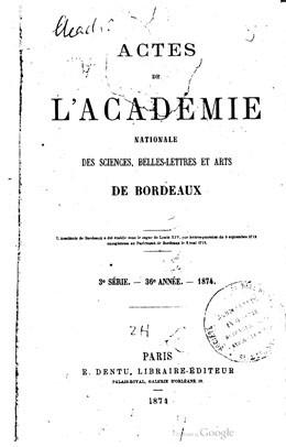 Sur les observations pluviométriques faîtes dans les colonies françaises (1874)