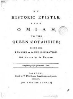 Un épître historique de Omai à la reine de Tahiti (1775)