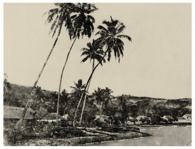 Papeete, bord de mer entre Fare Ute et la boulangerie militaire (1859)