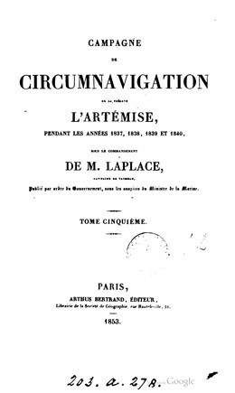 Campagne de circumnavigation de la frégate l'Artémise (1853)