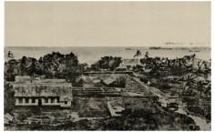 Centre de Papeete et case de la reine Pomare (1859)