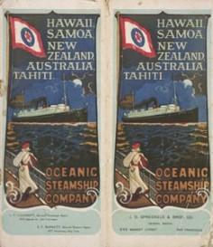 Affichettes de l'Oceanic Steamship Company (1900)