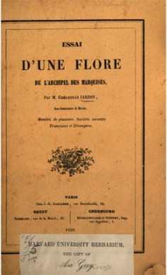 Essai d'une flore de l'archipel des Marquises (1858)