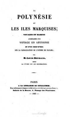 La Polynésie et les iles Marquises : voyages et marine (1843)