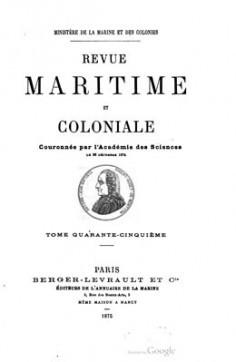 Revue maritime et coloniale – Tome 45 – Notes sur Taïti et les Tuamotus (1875)