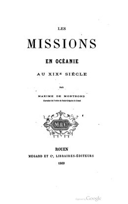 Les missions en Océanie au XIXème siècle (1869)