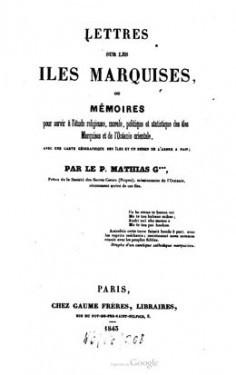 Lettres sur les îles Marquises
