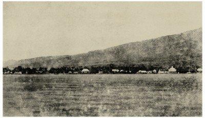 Front de mer de Papeete depuis Motu Uta (1859)