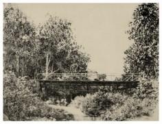 Pont sur la Tipaerui à Papeete (1859)