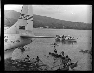 Arrivée d'un hydravion de la TEAL (1952)
