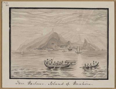 Port de Fare à Huahine (1821)