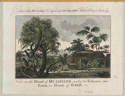 Vue de l'île de Huahine (1788)