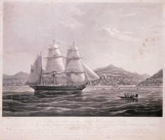 """Le """"John Williams"""" rentre dans la baie de Huahine"""