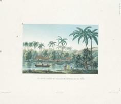 Voyage de la Coquille – Vue d'une partie du village de Matavae, île de Tahiti