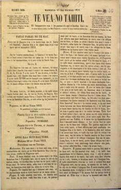 Te vea no Tahiti – 7 août 1852
