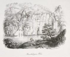 Le Piha, rochers basaltiques à Tahiti (1838)