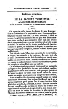 De la société tahitienne à l'arrivée des Européens (1856)