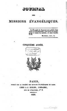 Journal des missions évangéliques – Cinquième année (1830)