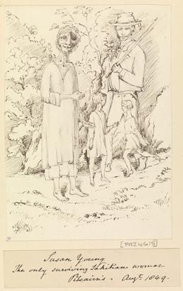 Susan Young, dernière survivante tahitienne de Pitcairn – Sir Edward Gennys Fanshawe – Août 1849