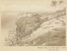 Baie de Matavai et Pointe Vénus – Sir Edward Gennys Fanshawe – 24 août 1849