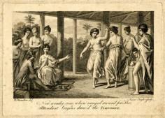 Danse traditionnelle du Timrodee devant un officier européen (1774-1829)