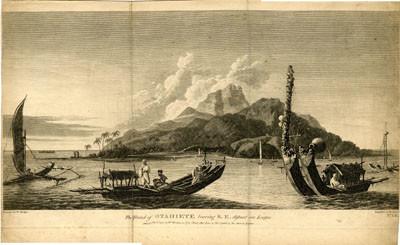 The island of Otahiete bearing S.E. distant one League (1777)