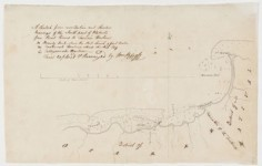 Carte du nord de Tahiti de la Pointe Vénus au port de Taaone (1791)