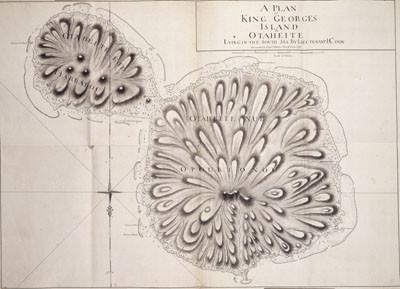 Carte de l'île du Roi Georges de Otaheite (1769)