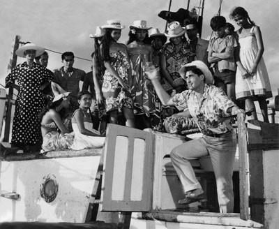 """Sur le tournage de """"Houla-Houla"""" (1959)"""