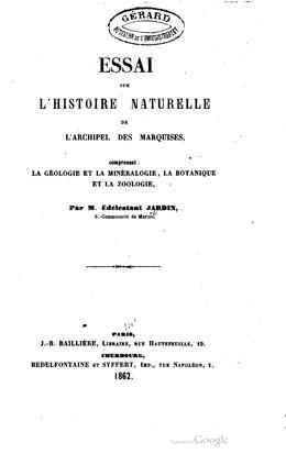 Essai sur l'histoire naturelle de l'archipel des Marquises (1862)