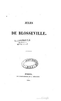 Jules de Blosseville (1854)