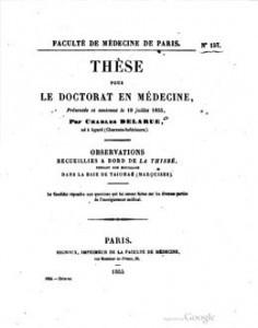 Observations recueillies à bord de la Thisbé pendant son mouillage dans la baie de Taiohae (1855)