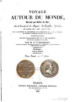 Voyage autour du monde, sur la corvette de Sa Majesté, La Coquille – Tome 2 – 1ère partie (1830)