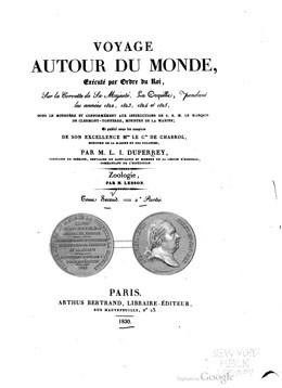Voyage autour du monde, sur la corvette de Sa Majesté, La Coquille – Tome 2 – 2ème partie (1830)