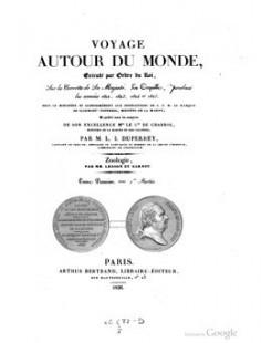 Voyage autour du monde, sur la corvette de Sa Majesté, La Coquille – Tome 1er – 1ère partie (1826)