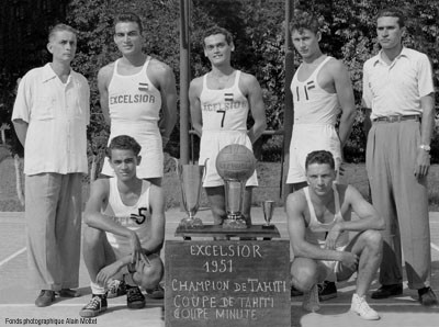Excelsior – Champion de Tahiti de basket en 1951