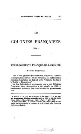 Revue maritime et coloniale – Tome 14 – Etablissements français de l'Océanie (1865)