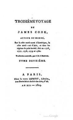 Troisième voyage de James Cook – Tome deuxième (1804)