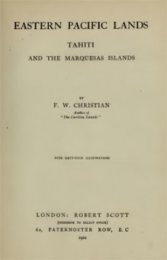 Eastern Pacific lands – Tahiti and the Marquesas islands