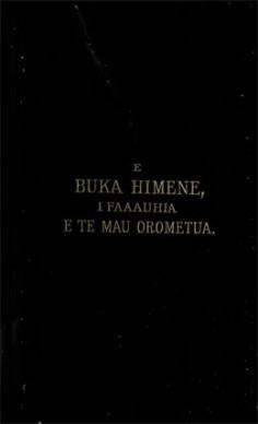 E buka himene, i faaauhia e te mau orometua (1882)