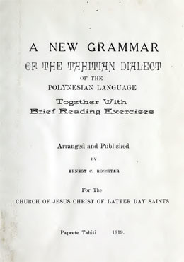 A new grammar of the Tahitian dialect of the Polynesian language (1919)