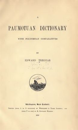 Paumotuan Dictionary (1895)