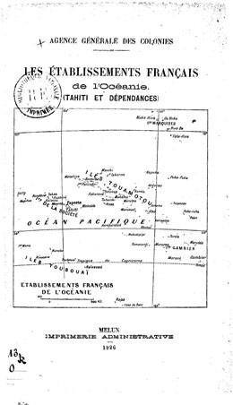 Établissements français de l'Océanie (1926)