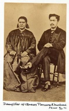 Reine de Bora Bora et son mari (1870)