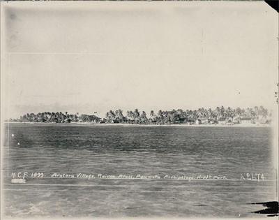Village de Avatoru à Rangiroa (1899)